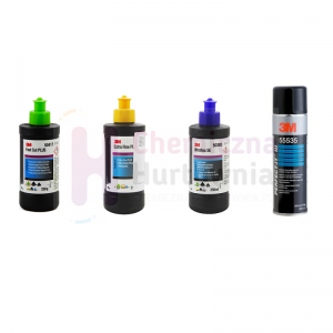 Zestaw polerski 3M 50417 / 80349 / 50383 + GRATIS spray do kontroli 55535